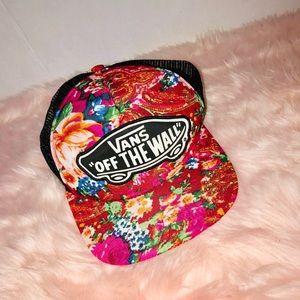 Vans Accessories - Vans floral snap back hat
